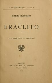 Cover of: Eraclito | Emilio Bodrero
