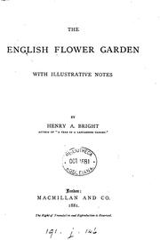 Cover of: The English flower garden by Henry Arthur Bright