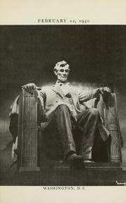 Cover of: February 12, 1950. Let us celebrate the greatness of this man | Abraham Lincoln