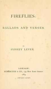 Cover of: Fireflies by Sydney Lever
