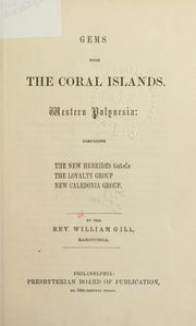 Cover of: Gems from the Coral Islands by William Wyatt Gill