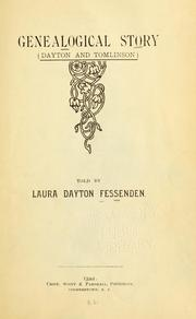 Cover of: Genealogical story (Dayton and Tomlinson) | Laura Dayton Fessenden