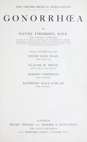 Cover of: Gonorha | Thomson, David