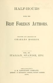 Cover of: Half-hours with the best foreign authors | Morris, Charles