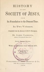 Cover of: History of the Society of Jesus by J. M. S. Daurignac