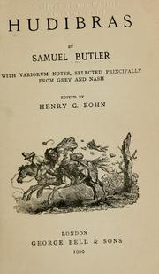 Cover of: Hudibras by Samuel Butler
