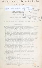 Cover of: Indian Act | Canada