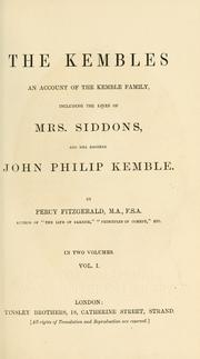 Cover of: The Kembles by Percy Fitzgerald
