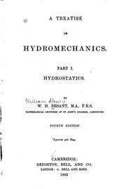 Cover of: A Treatise on Hydromechanics by William Henry Besant