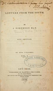 Cover of: Letters from the South | Paulding, James Kirke