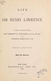 Cover of: Life of Sir Henry Lawrence | Edwardes, Herbert Benjamin Sir