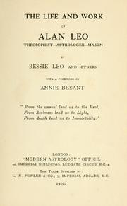 Cover of: The life and work of Alan Leo | Bessie Leo