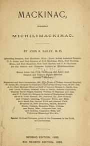 Cover of: Mackinac by Bailey, John R.