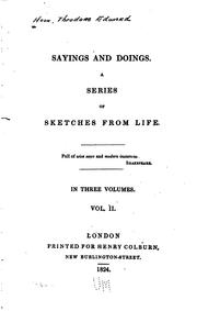 Cover of: Sayings and Doings: A Series of Sketches from Life [First Series] by Theodore Edward Hook