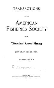 Cover of: Transactions of the American Fisheries Society by American Fisheries Society