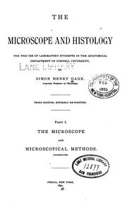 Cover of: The Microscope and Histology by Simon Henry Gage