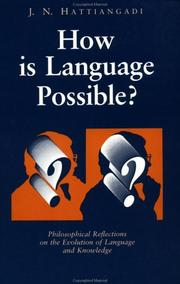 Cover of: How Is Language Possible? | Hattiangodi