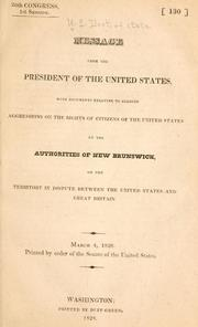Cover of: Message from the President of the United States by United States. Department of State.