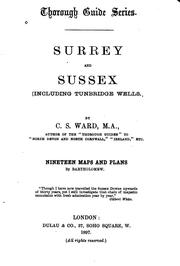 Cover of: Surrey and Sussex: Including Tumbridge Wells | Charles Slegg Ward