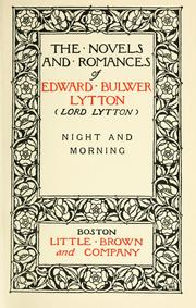 Cover of: Night and morning | Edward Bulwer Lytton