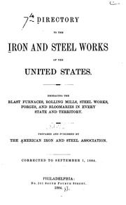 Cover of: Directory of Iron and Steel Works of the United States and Canada by American Iron and Steel Institute