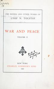 Cover of: The novels and other works of Lyof N. Tolstoï | Tolstoy