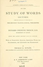 Cover of: On the study of words by Richard Chenevix Trench