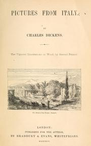 Cover of: Pictures from Italy by Charles Dickens