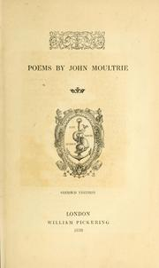 Cover of: Poems by John Moultrie | John Moultrie