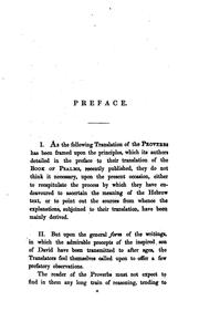 Cover of: A new translation of the Proverbs of Solomon, with notes by W. French and G. Skinner by Solomon