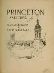 Cover of: Princeton sketches | Maitland Belknap