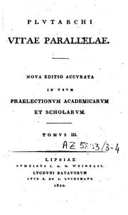 Cover of: Plutarchi Vitae parallelae | Plutarch