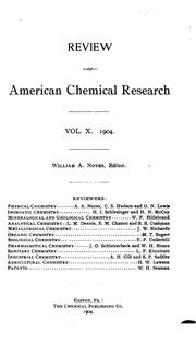 Cover of: Review of American Chemical Research by Massachusetts Institute of Technology
