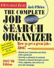 Cover of: The complete job search organizer, 1997-'98 | O'Brien, Jack