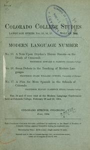Cover of: Publications.  Language series by Colorado College