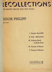 Cover of: Recollections by Isidore Edmond Philipp