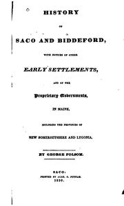 Cover of: History of Saco and Biddeford by George Folsom
