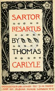 Cover of: Sartor resartus by Thomas Carlyle