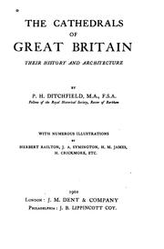 Cover of: The Cathedrals of Great Britain, Their History and Architecture by Peter Hampson Ditchfield