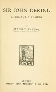 Cover of: Sir John Dering by Jeffery Farnol