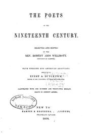 Cover of: The Poets of the Nineteenth Century by Evert Augustus Duyckinck