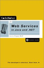 Cover of: CodeNotes for Web Services in Java and .NET (CodeNotes) by Gregory Brill