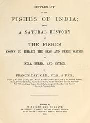 Cover of: Supplement to The fishes of India by Francis Day