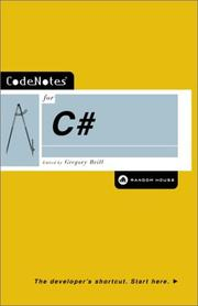 Cover of: CodeNotes for C# by Gregory Brill