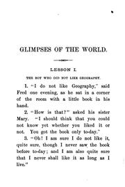Cover of: Glimpses of the World by Larkin Dunton