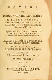 Cover of: A voyage to China and the East Indies | Pehr Osbeck