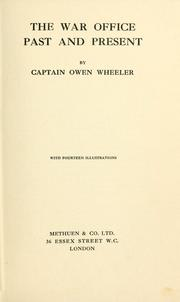 Cover of: The War office by Owen Wheeler