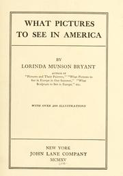 Cover of: What pictures to see in America | Lorinda Munson Bryant