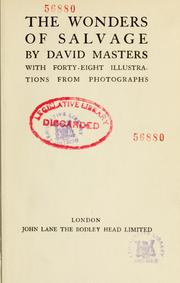 Cover of: The wonders of salvage by David Masters