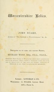 Cover of: Worcestershire relics | John Noake